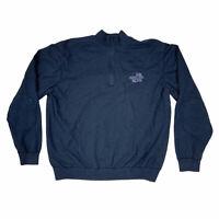 Cutter & Buck Mens Seattle Seahawks Super Bowl 1/4 Zip Pullover Sweater Navy XL