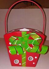 NWT HOME INTERIORS TIN CHRISTMAS PRESENT CANDLE HOLDER