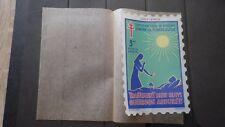 Grande vignette Timbre TUBERCULOSE 1961-1962 Traitement bien ... 3 frs FRANCE