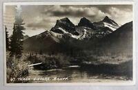 Three Sisters Alberta Canada RPPC Vintage Postcard Real Photo
