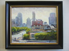 """Union Station and Market Street, St.Louis""o/c , listed artist Irek T. Szelag"