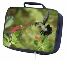 More details for green hermit humming bird navy insulated school lunch box bag, ab-95lbn