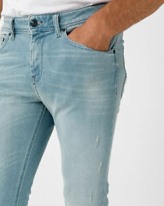 DIESEL STICKKER 084EC STRETCH SUPER SLIM SKINNY Men's Denim Jeans Light Blue