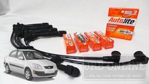 For Kia Rio JB G4ED G4EE 1.6L 1.4L 05~11 IGNITION LEADS +SPARK PLUGS SERVICE KIT