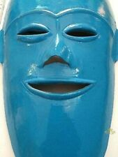 Blue Iron Face Mask Hanging wall decor