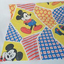 Vintage WDP Walt Disney Productions Twin Pillowcase Mickey Minnie Pluto