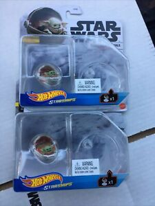 New Hot Wheels Star Wars Starships Mandalorian Baby Yoda the Child Hover Pram-2