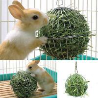 8cm Silver Sphere Feed Dispenser Hanging Ball Pet Toy Guinea Pig Hamster Rabbit