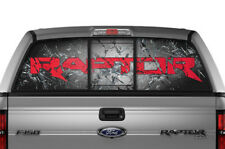 Ford F150 SVT Raptor Window Vision Graphics Vinyl Sticker Decal 10-14 SHATTERED