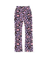 Classic Pink & Purple Animal Print Pyjamas Bottoms Loungewear Fashion Festival