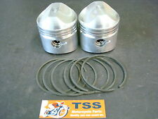 501/02T TRIUMPH 500 T100 PISTON SET W/ RINGS .020 68-ON EMGO & CYCLE PRO PAIR