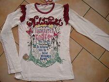 (24) Nolita Pocket Girls Langarm Shirt + Logo Stickerei + Druck & Besatz gr.152