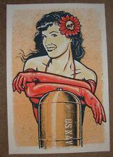 BETTY PAGE Gold Regular silkscreen art poster print LARS P KRAUSE