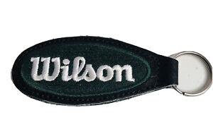 WILSON A2000 GREEN LEATHER KEYCHAIN