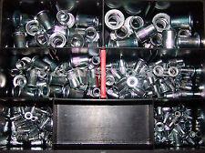 180 Stahl Blindnietmuttern Sortiment verzinkt Niet Flachkopf Blindnietmutter