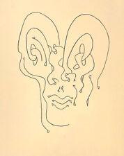 "Sorel ETROG ""Female portrait"" , 1970 rare original signed etching"