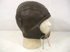 WWII US Navy USN/USMC Type NAF1092 Leather Flying Helmet w/Chin Strap - Xln't #1