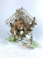 Miniature Christmas Bear Tree Ornament OOAK Tiny Teddies by Elke  ID4434