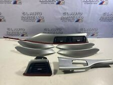 BMW 3 SERIES F30 F31 ALUMINIUM / RED INTERIOR TRIMS SET OEM 9231995