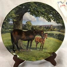 """Spode 1988 Plate # 3.220B First Issue of """"The English Thoroughbred"""""""