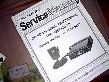 SERVICE Manual REALISTIC Radio Shack CB 18 40-CHANNEL Transceiver TRC-420/420-18