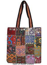 Vintage Bohemian Handbag Embroidered Patchwork Antique Coin Shoulder Bag Indian