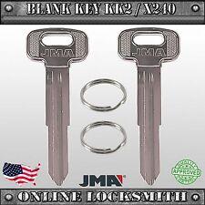 2 New Uncut Replacement Keys For Kia Sportage - KK2 / X240 / KI2D -FREE SHIPPING