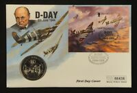 Guernsey Coin and Stamp First Day Cover, 1994, D-Day 50th Anniversary