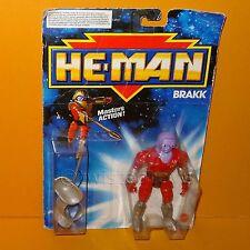 VINTAGE 1988 80s MATTEL MOTU NEW ADVENTURES OF HE-MAN BRAKK FIGURE MOC CARDED