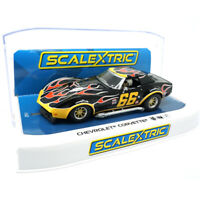 Scalextric C4107 Chevrolet Corvette - No. 66 Flames 1/32 Slot Car