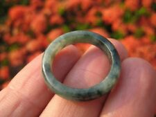 Natural Jade ring Thailand jewelry stone mineral art size 9.25  A180