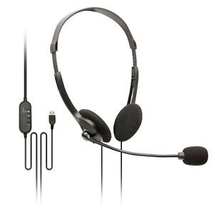 SoundLab USB PC Home Work Office Call Centre Teams Skype Zoom Headset Microphone