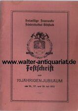 Saar 70 Jahre Freiwillige Feuerwehr Friedrichsthal-Bildstock 1882-1952 FFW...