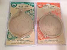 Wilton Clay Cookie Candy Molds Lot Pumpkin and Christmas Ornament 5 inch 1998