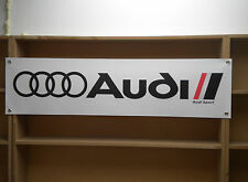 Audi Sport BANNER sign for Car Workshop Garage retro Display, UR quattro, S1