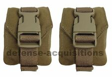 LOT OF 2 Eagle Industries MOLLE II Coyote Grenade Pouch MC-FGC-1-MS-COY USMC VGC