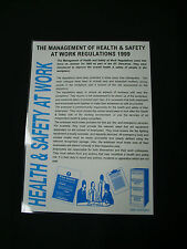 A3 Health & Safety Poster -Management Notice Management Poster Management Sign