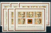 Bund Block 18 postfrisch (6 Stück) BRD 1156 - 1160 Bundespräsidenten MNH