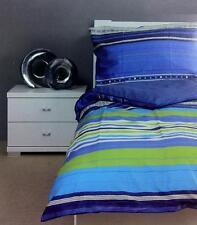 2 teiliges Bassetti Bettwäsche Set blau 135 140 x 200 cm Decken + Kissen Bezug