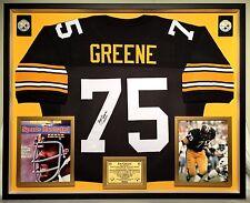 Premium Framed Joe Greene Autographed Pittsburgh Steelers Jersey - JSA COA
