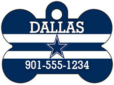 Dallas Cowboys NFL Pet Id Dog Tag Personalized w/ Your Pet's Name & Number