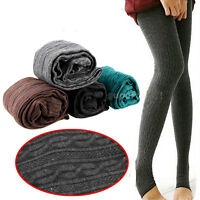 Women Winter Warm Skinny Slim Leggings Stretch Pants Thick Cotton Knit Pants