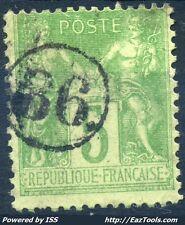 FRANCE TYPE SAGE N° 102 BELLE OBLITERATION JOUR DE L'AN ENCERCLEE N° 86 A VOIR