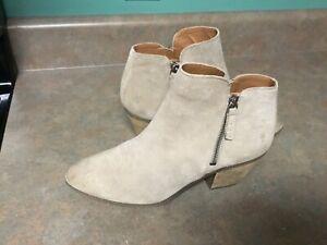Frye Judy Zip Bootie Women's Ankle Boots Beige ASH Suede 3470015 Size 9M (CON53)