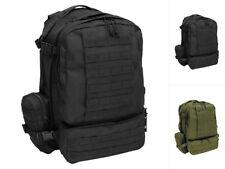 MFH Italienischer Rucksack Tactical Modular 45 LIter Schwarz Oliv Backpack