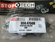 Stoptech Stainless Steel Braided REAR Brake Lines Kit FR-S FRS GT86 BRZ 86 New