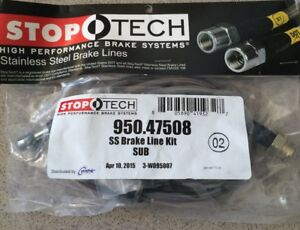 Stoptech REAR Stainless Steel Braided Brake Lines Set for Subaru WRX STi 08+ New