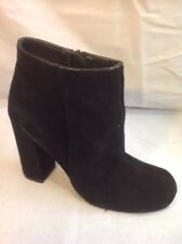 Next Black Ankle Suede Boots Size 3.5
