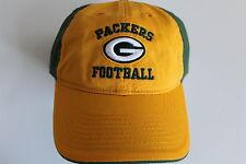 Green Bay Packers NFL Football Cap Berretto Taglia Unica Slouch TAGLIATO PIATTO