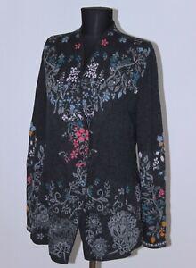 IVKO womens cardigan wrap robe Size 42 wool 100%
